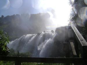 Il secondo salto della cascata delle Marmore. Foto tratta da Wikipedia