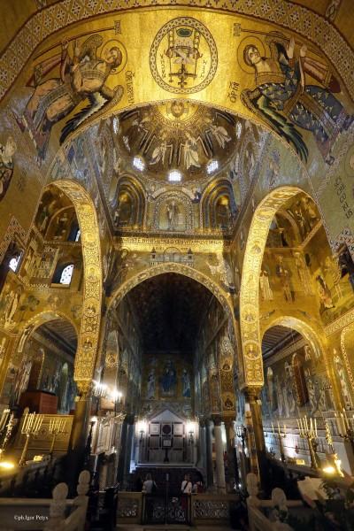 Palermo 21�42015 ( FOTO PETYX PALERMO) nella foto: la cappella Palatina, sito Unesco