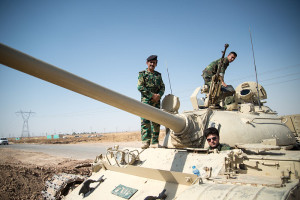 Un tank dei peshmerga