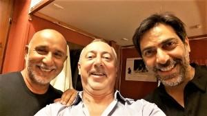 Un selfie a tre: Paride Benassai, Marco Pomar e Sergio Vespertino