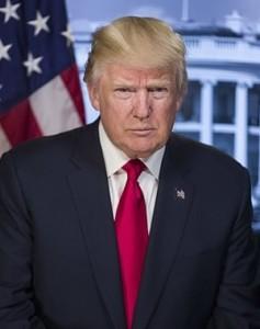 Ritratto ufficiale di Trump alla Casa Bianca. Il piede non si vede.