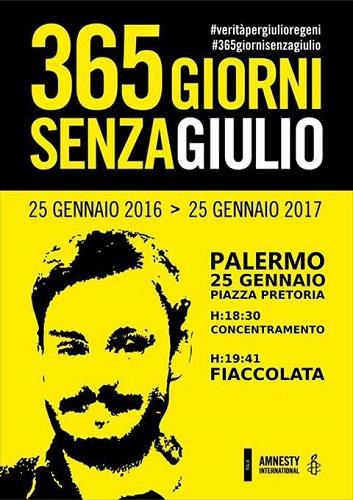 Fiaccolata a Palermo per Regeni un anno senza Giulio Regeni M