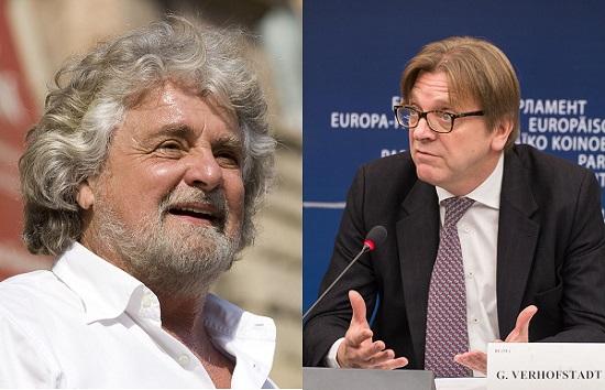 Grillo e Verhofstad nello stesso gruppo al Parlamento Europeo? Incredibile.