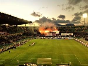 Stadio Barbera nella seconda promozione in A dell'era Zamparini. Foto di Gabriele Bonafede.