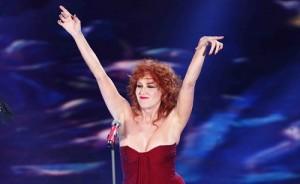 Fiorella Mannoia sul palco di Sanremo 2017