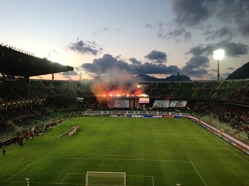 Stadio Barbera. Festa promozione in serie A del 2013. Si andava in pochi a vedere Dybala....
