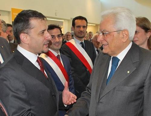 L'ambasciatore della Romania Bologan e il Presidente Mattarella.