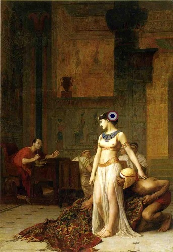 Cleopatra_and_Caesar_by_Jean-Leon-Gerome Macron e Brigitte M