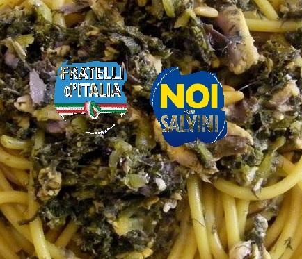 Pastrocchio pasta con le sarde Fratelli d Italia e Noi con Salvini1
