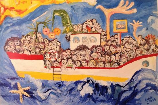 Quadro Mediterraneo e Lampedusa 2014 Gabriele Bonafede GAB_1_M