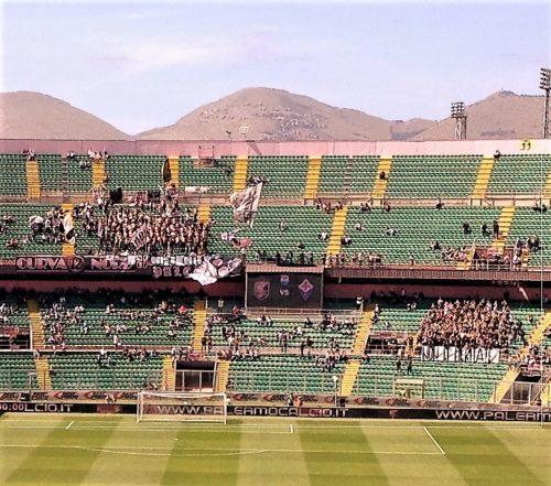 Stadio quasi vuoto e contestazioni in Palermo-Fiorentina la scorsa stagione