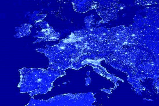 Europa da satellite blu