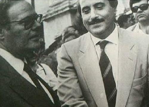 Giovanni Parisi e Giovanni Falcone M