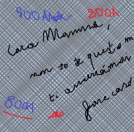 Un frammento della lettera di uno scrutatore al confino.  Miracolosamente salvato grazie a Marco Pomar