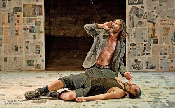 Fabio Lo Meo e Luigi Rausa in Il pozzo dei Pazzi di Scaldati foto di Allessandra Leone