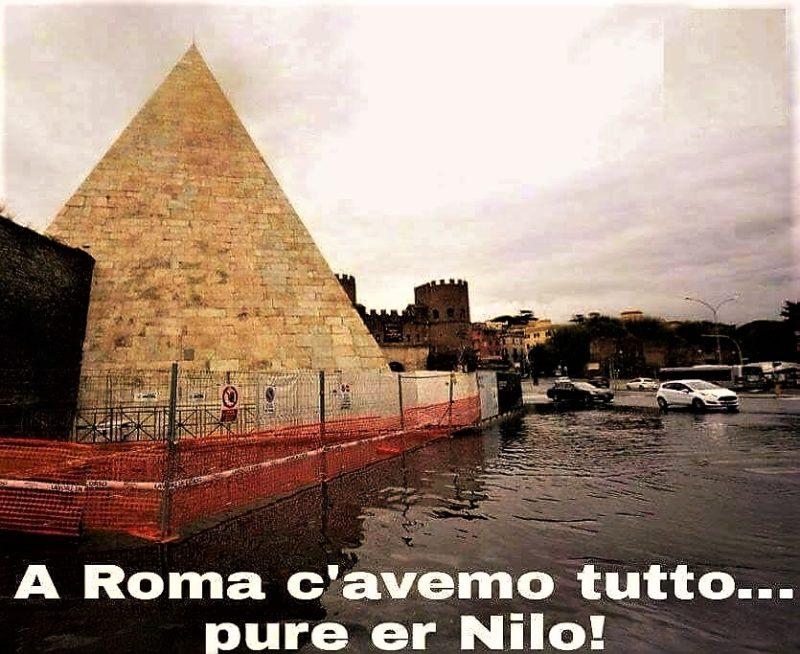 """... lo stato """"egizio"""" (A Roma c'avemo tutto pure er Nilo...)"""