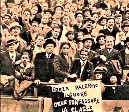 Palermo 1932-33 prima stagione in A tifosi 2B Rosa