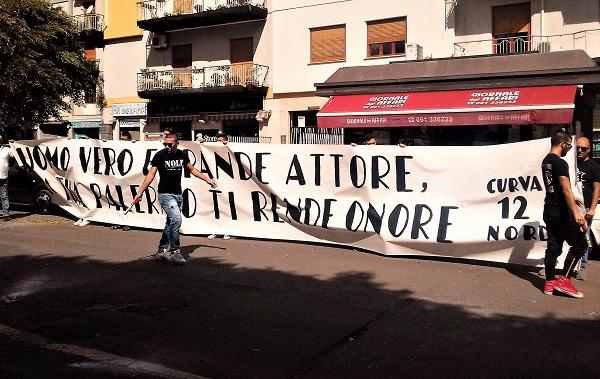 Striscione tifosi del Palermo per Burruano M 2