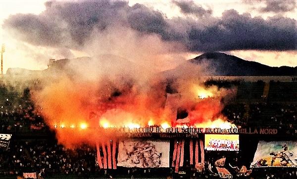 Festa Curva Nord stadio Barbera T M