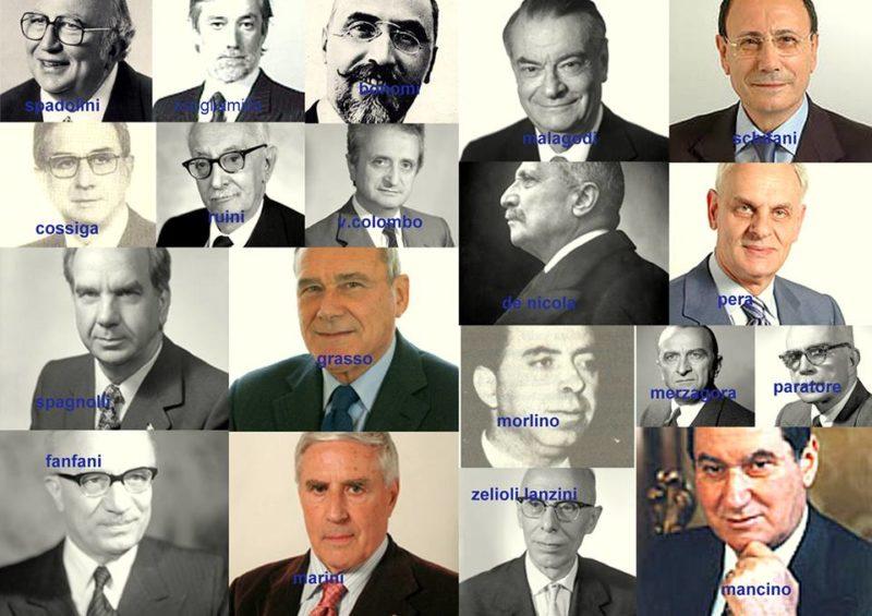 Prsidenti del Senato Repubblica Italiana fino al 2017