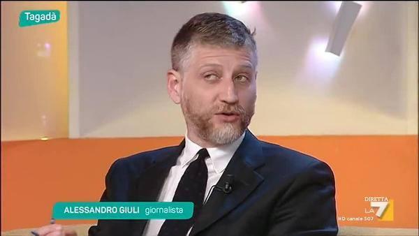 Alessandro Giuli a Tagada la7