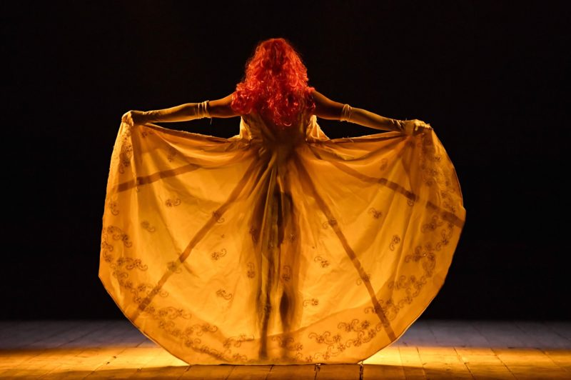 04/07/2017 60 Festival dei 2 Mondi di Spoleto. Teatro Caio Melisso, spettacolo La Scorticata testo e regia di Emma Dante. Nella foto Carmine Maringola