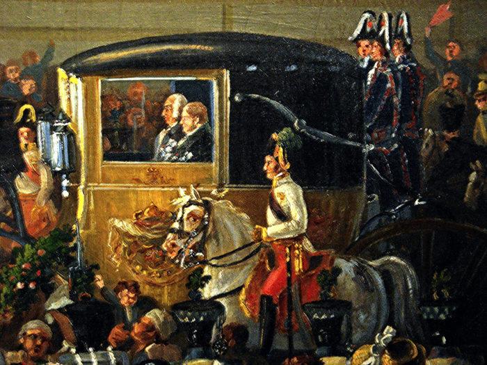 Re Ferdinando I in carrozza