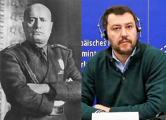 Mussolini e Salvini