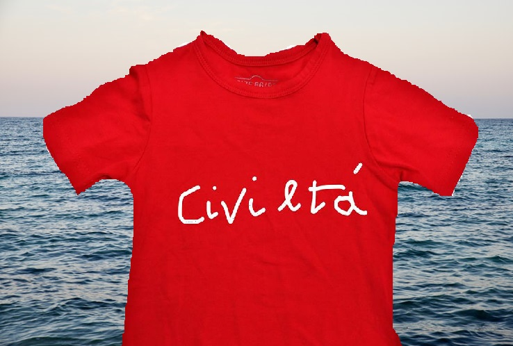 Maglietta rossa per i migranti che rischiano la vita, ma ragionandoci da un punto di vista laico