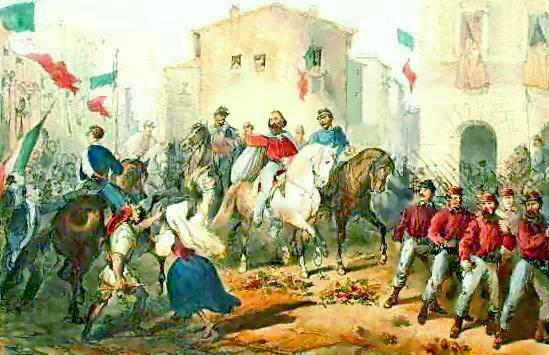 Perrin_C._lith._-_Entrata_di_Garibaldi_in_Messina_-_litografia_-_1861