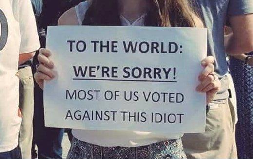 Spiacenti ma la maggioranza ha votato contro questo idiota