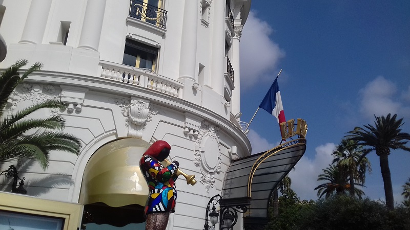 Entrata dell Hotel Negresco a Nizza foto di Gabriele Bonafede M