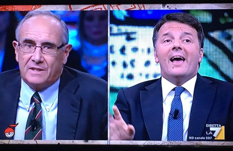 Franco e Renzi a La7 16 ottobre 2018