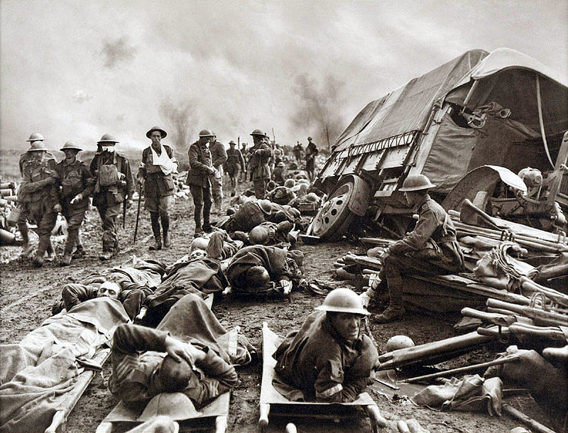 Battle_of_Menin_Road_-_wounded_at_side_of_the_road