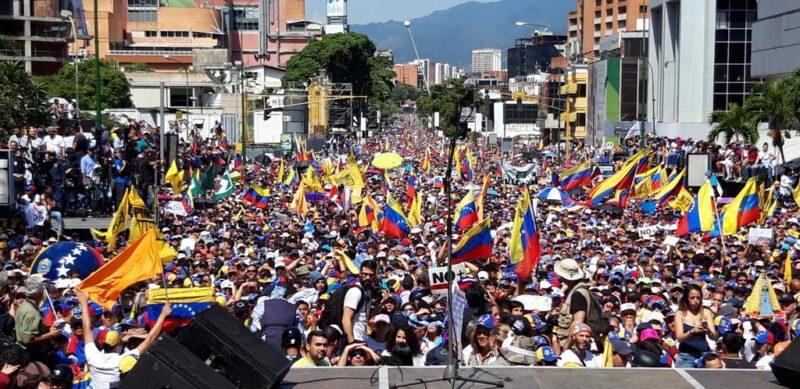 Manifestazione di sostegno a Juan Guaidò il 2 febbraio 2019 in Venezuela