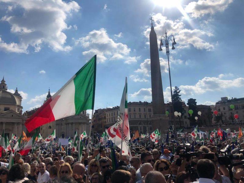 Mnifestazione PD a Roma