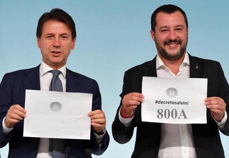 Conte Salvini dcreto 800A zoom M