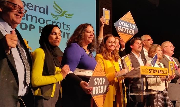 I Liberal-Democratici si affermano ne Regno Unito e guidano lo schieramento Stop-Brexit