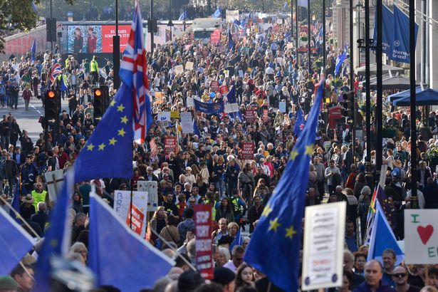 Peoples Vote March No Brexit 20 ottobre 2018