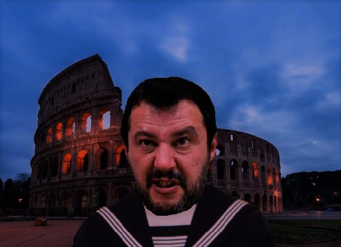 Salvini in grembiule T