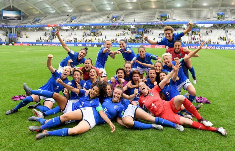 Nazionale femminile calcio giugno 2019