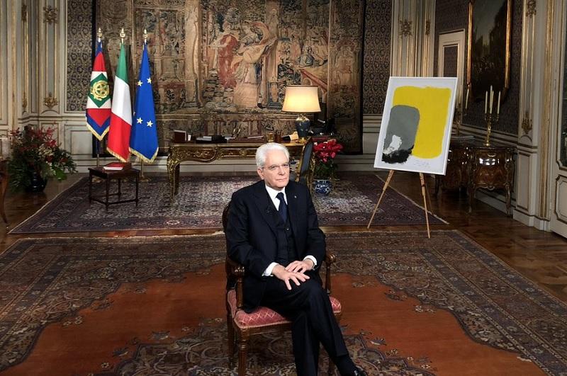 Il Presidente Mattarella al Quirinale, 31 dicembre 2018