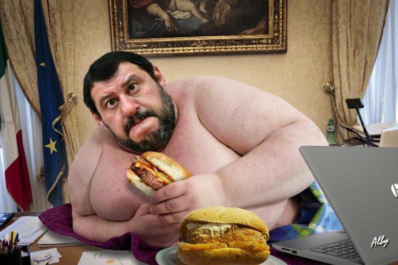 Salvini obeso ingrassa ladestra ma la distrugge