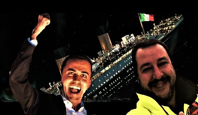 Titanic Italia recessione e il governo esulta T