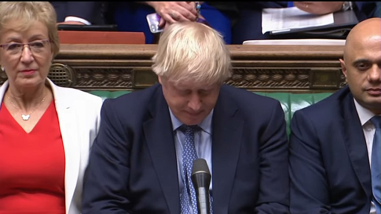 Boris Johnson umiliato in Parlamento, 25 settembre 2019 . Arriverà un effetto-Italia fino a Londra?