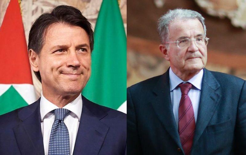 Giuseppe Conte e Romano Prodi