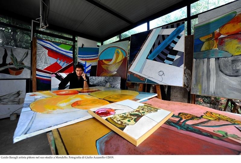Guido Baragli nel suo atelier di Mondello foto Giulio Azzarello copyright 2019