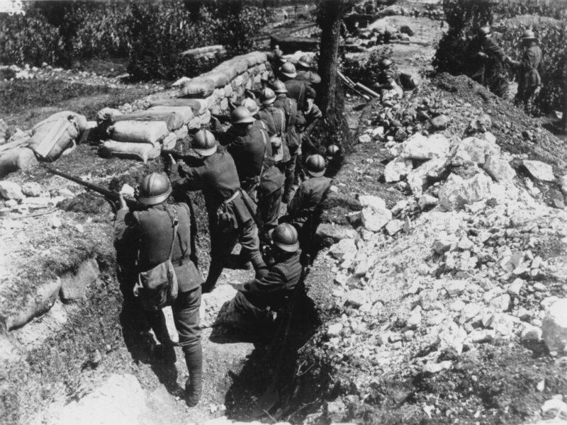 Trincea fronte italiano rima guerra mondiale Foto Bonardi 11-23