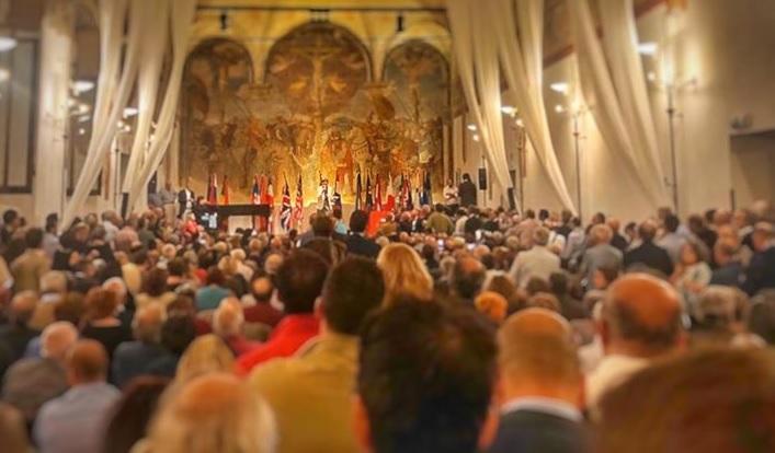 Presentazione Italia Viva a Milano 26 settembre da pagina FB Matteo Renzi M