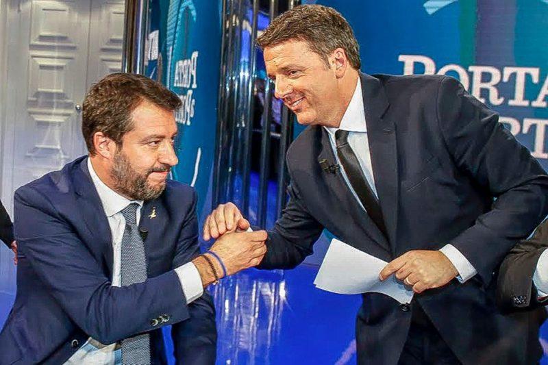 Renzi e Salvini a Porta a Porta 1
